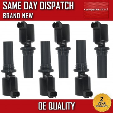 6X FULL SET JAGUAR S-TYPE 1999>2008 ON PENCIL IGNITION COIL *NEW*