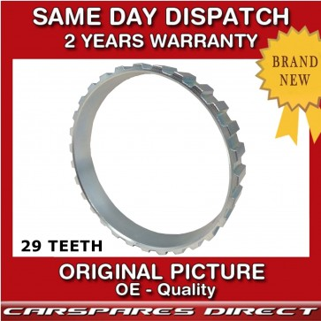 PEUGEOT 306 93>02  29 TEETH DRIVESHAFT CV ABS RELUCTOR RING FRONT LEFT / RIGHT