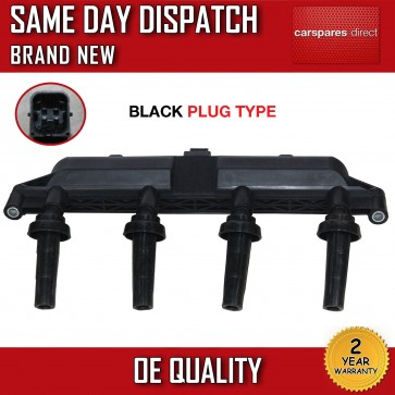 CITROEN C2 C3 1.1 1.4 IGNITION COIL PACK 2002>ON BLACK PLUG 2526208A *BRAND NEW*