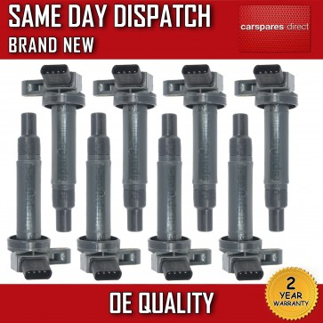 8x COMPLETE-SET-PACK TOYOTA LAND CRUISER 100 4.7 PENCIL IGNITION COIL NEW