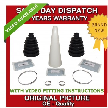 2x AUDI OUTER CV UNIVERSAL STRETCH BOOT WITH CONE KIT NEW