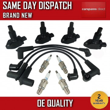 4x MAZDA RX8 IGNITION COIL PACKS + NGK SPARK PLUGS +  LEADS N3H1-18-100