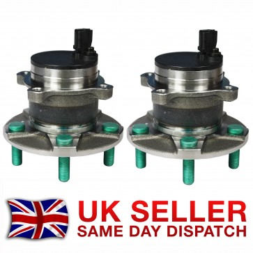 FORD FOCUS MK2 MK3 REAR WHEEL BEARING + HUB + ABS SENSOR PAIR (2x) 2003>on