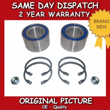 VW POLO Mk 4 FRONT WHEEL BEARING PAIR (2x) + NUT 1997-2001 BRAND NEW
