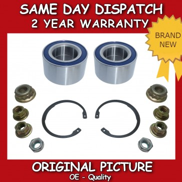 SKODA OCTAVIA FRONT WHEEL BEARING PAIR (2x) + NUT 1996>2010 BRAND NEW