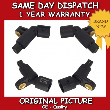AUDI A3 1.6,1.8,1.9 ABS SENSOR COMPLETE SET (ALL 4) 1996>2003 BRAND NEW