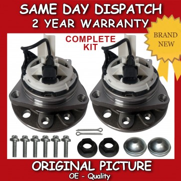 VAUXHALL VECTRA C 1.8,1.9,2.0,2.2,2.8,3.2 FRONT WHEEL BEARING + HUB PAIR (2x)