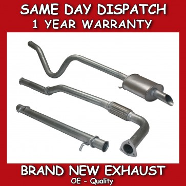 LAND ROVER DISCOVERY 2 300 TDI COMPLETE SPORTS EXHAUST SYSTEM / FLEXIBLE DE-CAT