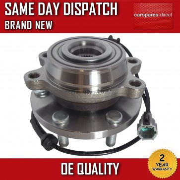 FRONT WHEEL BEARING HUB WITH SENSOR +ABS FIT FOR NISSAN NAVARA D40 2.5 dCi 05>ON