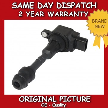PENCIL IGNITION COIL FIT FOR A NISSAN ALMERA II, TINO 1.5 / 1.8 2000>ON *NEW*