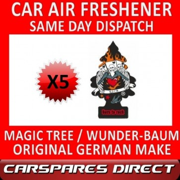 MAGIC TREE CAR AIR FRESHENER x 5 *BORN TO ROCK* ORIGINAL & BEST WUNDER-BAUM NEW