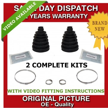 2x AUDI OUTER CV JOINT BOOT KIT CV BOOTKIT CV GAITER DRIVESHAFT BRAND  NEW