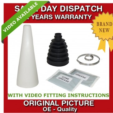 1x SEAT OUTER CV UNIVERSAL STRETCH BOOT WITH CONE KIT NEW