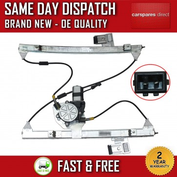 VW POLO MK3 6N1 6N2 FRONT LEFT SIDE ELECTRIC WINDOW REGULATOR & 2 PIN MOTOR NEW