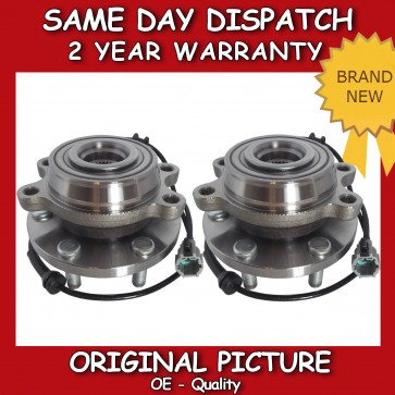 2X FRONT WHEEL BEARING FIT FOR A NISSAN NAVARA 2.5 D40 DCi DIESEL *BRAND NEW*