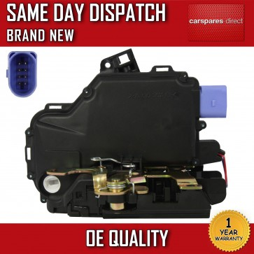 VW POLO FRONT RIGHT CENTRAL DOOR LOCK 2001>2009 PINS 8 *BRAND NEW* 2 YR WARRANTY