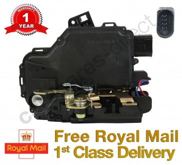 VW BORA LUPO FRONT RIGHT CENTRAL DOOR LOCK MECHANISM 98<05 *NEW* 8 PIN
