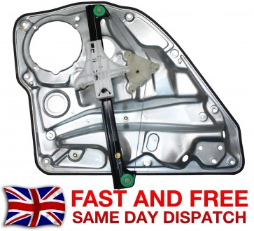 VW GOLF MK4 REAR LEFT COMPLETE ELECTRIC WINDOW REGULATOR WITHOUT MOTOR 97>05 NEW