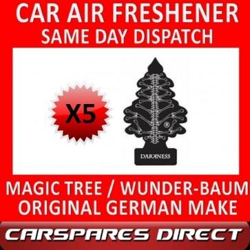 MAGIC TREE CAR AIR FRESHENER x 5 *DARKNESS* ORIGINAL & BEST WUNDER-BAUM NEW