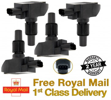 SET OF 4 MAZDA RX8 RX-8 RX 8 IGNITION COIL PACKS 2003 - 2012 N3H1-18-100 *NEW*
