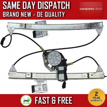 VW POLO FRONT RIGHT DRIVER SIDE ELECTRIC WINDOW REGULATOR WITH 2 PIN MOTOR 95>ON