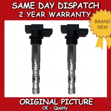 X2 SET OF IGNITION COILS FIT FOR VW POLO 1.2 2007>ON *BRAND NEW*