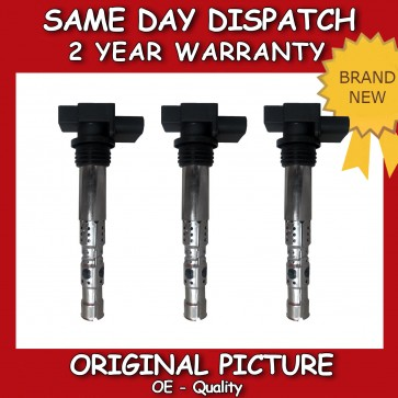 X3 SET OF VW FOX 1.2 PENCIL IGNITION COIL 2005>ON **NEW**