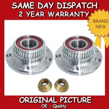 AUDI A3,TT 1.6,1.8,1.9 REAR WHEEL BEARING KIT PAIR (x2) + NUT 1996>2006 NEW