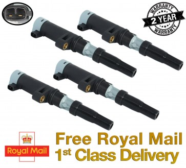 4 X IGNITION COIL FIT FOR RENAULT AVANTIME, THALIA, TWINGO 1998>ONWARDS *NEW*
