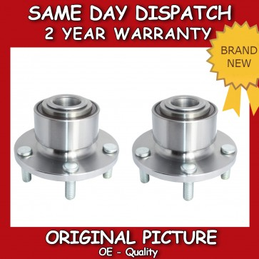 FORD FOCUS MK2 MK3 C-MAX (x2) FRONT WHEEL BEARING + HUB PAIR WITH ABS
