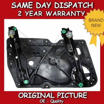 VW GOLF MK6 FRONT RIGHT WINDOW REGULATOR WITHOUT MOTOR WITH PANEL 2008>on