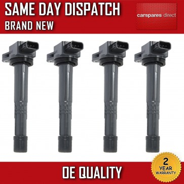 HONDA ACCORD MK8 2.0 X4 PENCIL IGNITION COIL SET 2003>on *BRAND NEW*