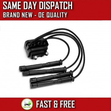 RENAULT CLIO Mk2 1.2,1.2 16v IGNITION COIL PACK SPARK PLUG LEADS 2001>on *NEW*