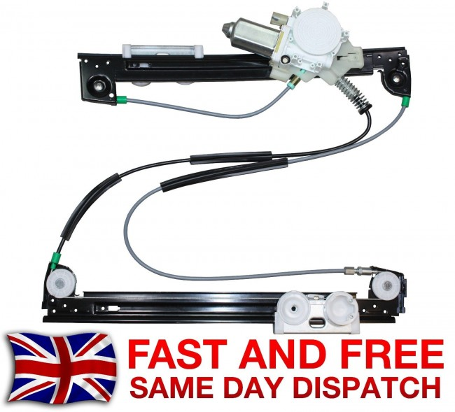 Mini One Front Left Side Window Regulator With Electric Motor 20012006