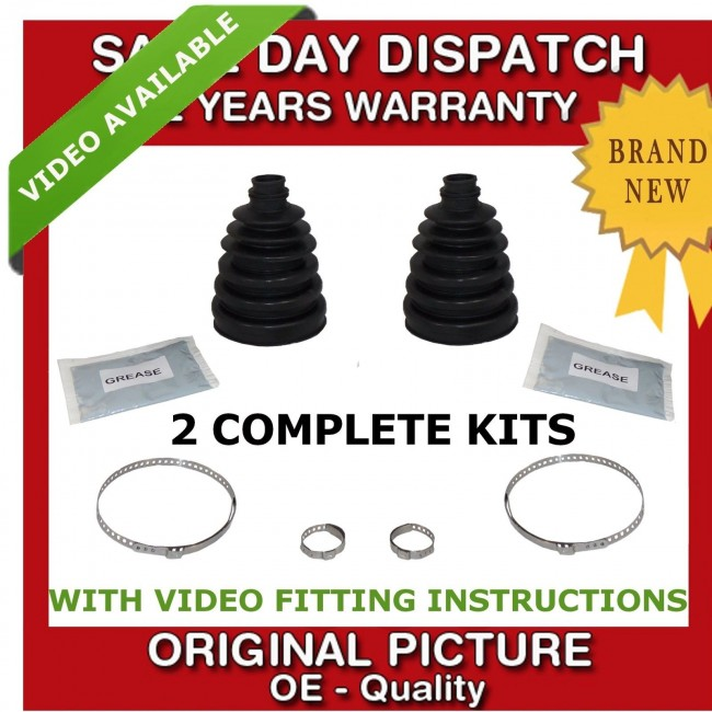 2x AUDI OUTER CV UNIVERSAL STRETCH BOOT KIT NEW
