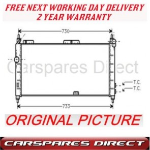 CORSA TIGRA COMBO 1.2 1.4 1.6 93> MANUAL  RADIATOR NEW*