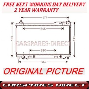 AUTOMATIC RADIATOR FIT FOR A NISSAN INFINITI 4.5 32V 03>08 2Y WTY