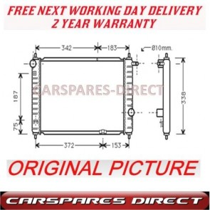 DAEWOO MATIZ 0.8 6V 98>01 MANUAL RADIATOR NEW 2YR WRNTY