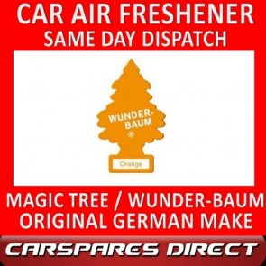 MAGIC TREE CAR AIR FRESHENER ORANGE ORIGINAL & BEST - WUNDER-BAUM NEW