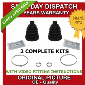 2x PORSCHE OUTER CV UNIVERSAL STRETCH BOOT KIT NEW