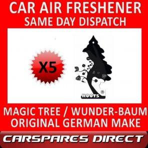 MAGIC TREE CAR AIR FRESHENER x 5 *ROOTS* ORIGINAL & BEST WUNDER-BAUM NEW