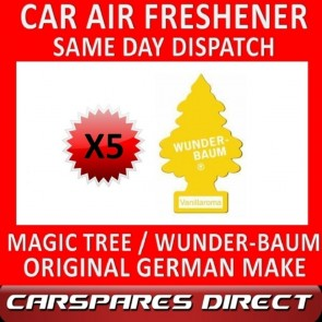 MAGIC TREE CAR AIR FRESHENER x 5 *VANILLA* ORIGINAL & BEST WUNDER-BAUM NEW