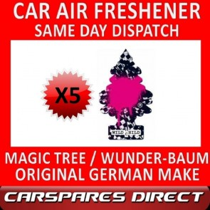 MAGIC TREE CAR AIR FRESHENER x 5 *WILD CHILD* ORIGINAL & BEST WUNDER-BAUM NEW