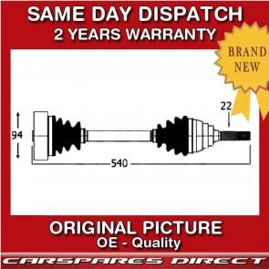 VW BEETLE 2.0 PETROL NEAR//SIDE DRIVESHAFT /& CV JOINT 1999/>ONWARDS