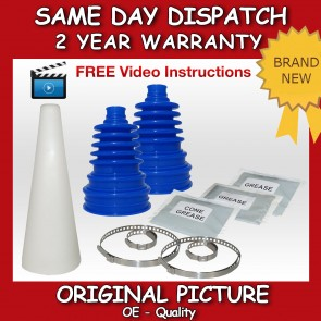 2x SUZUKI CV JOINT BOOT KIT CONE BLUE CV BOOTKIT CONE-CV-GAITER-DRIVESHAFT NEW