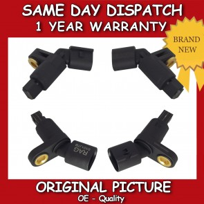 AUDI TT 1.8T ABS SENSOR COMPLETE SET (ALL 4) 1998>2006 BRAND NEW