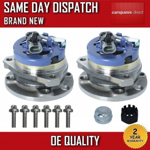 VAUXHALL ASTRA G 1.2,1.4,1.6,1.7 WHEEL BEARING + HUB + NUT PAIR (x2) 1998>09 NEW