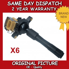 X6 IGNITION COILS FIT FOR BMW 3 SERIES E36,E46 PENCIL 90>ON BRAND NEW