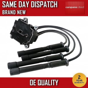 RENAULT MODUS HATCHBACK 1.2 IGNITION COIL SPARK PLUG LEADS 2004>ON 2 YR WARRANTY