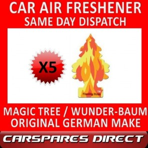 MAGIC TREE CAR AIR FRESHENER x 5 *FLAMING ROSE* ORIGINAL & BEST WUNDER-BAUM NEW